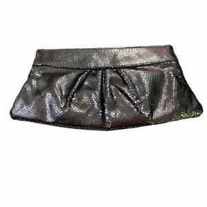 Lauren Merkin Metallic Silver Clutch